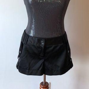 Black satin shorts perfect condition!